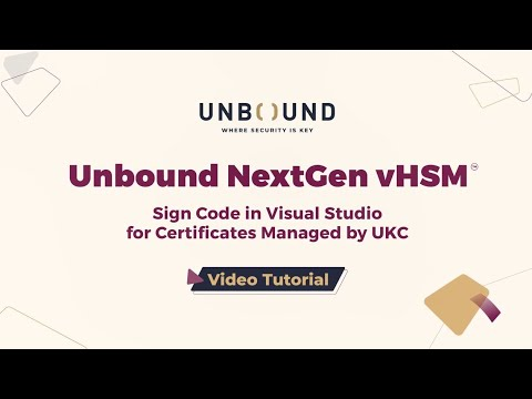 How to Sign Code Developed in Visual Studio & Protect Certificates ...