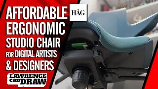 The best AFFORDABLE Ergonomic Chair for digital artists [HÅG Capisco Puls review]