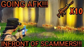 Going AFK While Trading My 10 Grave Diggers! (Scammer Gets Scammed) Fortnite Save The World