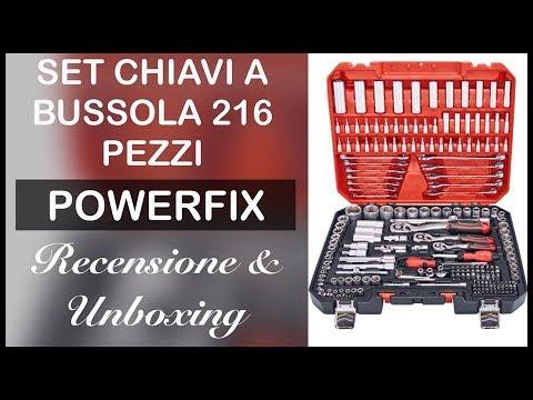 Stupenda!!! Valigetta con 216 utensili POWERFIX. Unboxing e recensione.