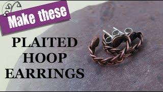 Plaited Hoop Earrings - Wirework Tutorial | Kholo.pk