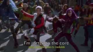 Descendants Cast - Rotten To The Core (Lyrics - Sub. En Español).