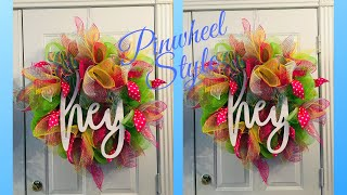 Full Fluffy Summer Deco Mesh Wreath Tutorial/Giveaway