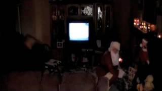 Caden meets Santa Clause