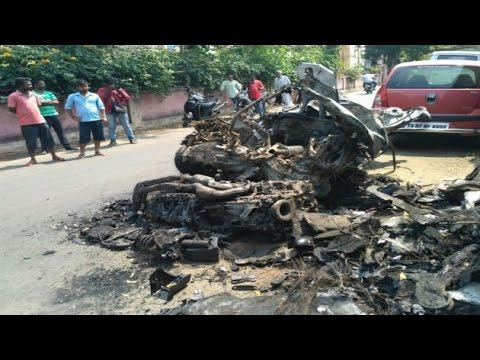 Racer Ashwin Sundar, wife charred to death after their BMW catches fire