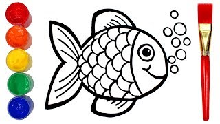 How to Draw a Fish   Drawing and Painting Creative for Kids