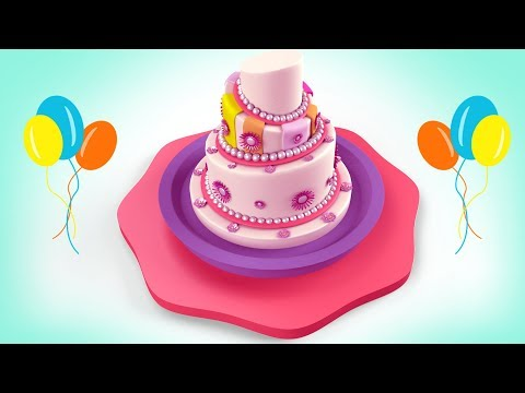 Cake For Kids | Birthday Cake Formation 3D Animation Cartoon Video HD | Kidzpanda.com Mp3