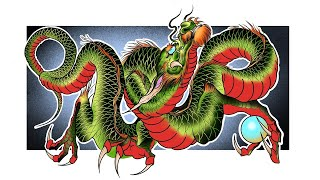 JAPANESE DRAGON TUTORIAL | 1 | Step By Step | How To Draw