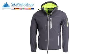 Superdry, Polar Team Sport Trakker, softshell ski-jas, heren, carbon grijs