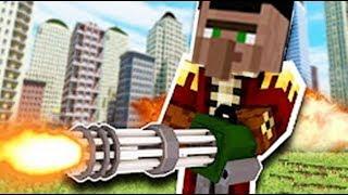 大海解說 我的世界Minecraft 空難逃生機槍掃射喪尸大軍