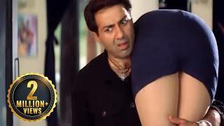 Sunny Deol और Manisha Koirala का मजेदार Scene | Champion (2000) (HD) - Part 2 | Action Drama Movie