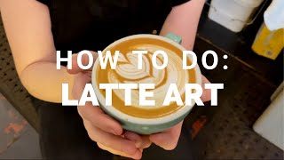 This is a latte art tutorial.