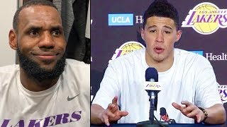 Devin Booker Requests Trade To Lakers - Joining LeBron James & Anthony Davis & LeBron Reacts To News