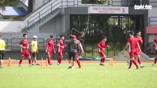 Đội tuyển Việt Nam tập buổi đầu tiên tại sân Petaling Jaya, Malaysia