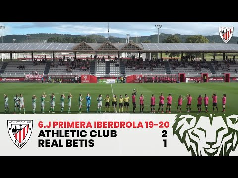 ⚽️ Resumen I J6. Primera Iberdrola I Athletic Club 2 – 1 Real Betis