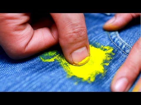 Как отстирать краску с одежды
