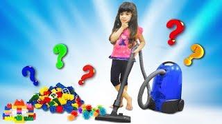 Пылесос для детей Учимся пылесосить.Что такое ПЫЛЕСОС? Как работает? Играем в Уборку