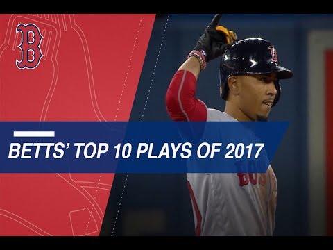 Mookie Betts' Top 10 Plays of 2017