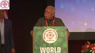 Shri Mohan Bhagwat speaking at WHC 2018 Inaugural session