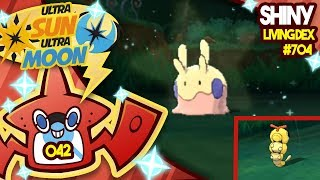 RARE SHINY GOOMY! KILLING SHINY CATERPIE! Quest For Shiny Living Dex #704 | USUM #042