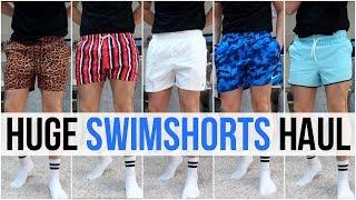 HUGE Mens Swimshorts Haul & Try On | Summer 2019 (Nike, Adidas, Asos, Boohooman & More)