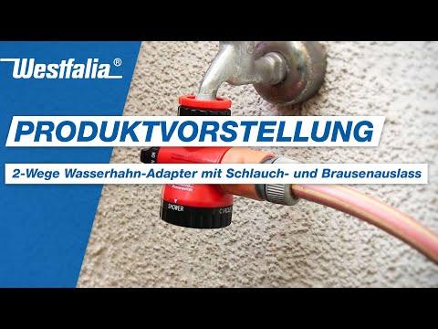 2-Wege Wasserhahn-Adapter mit Schlauch- und Brausenauslass