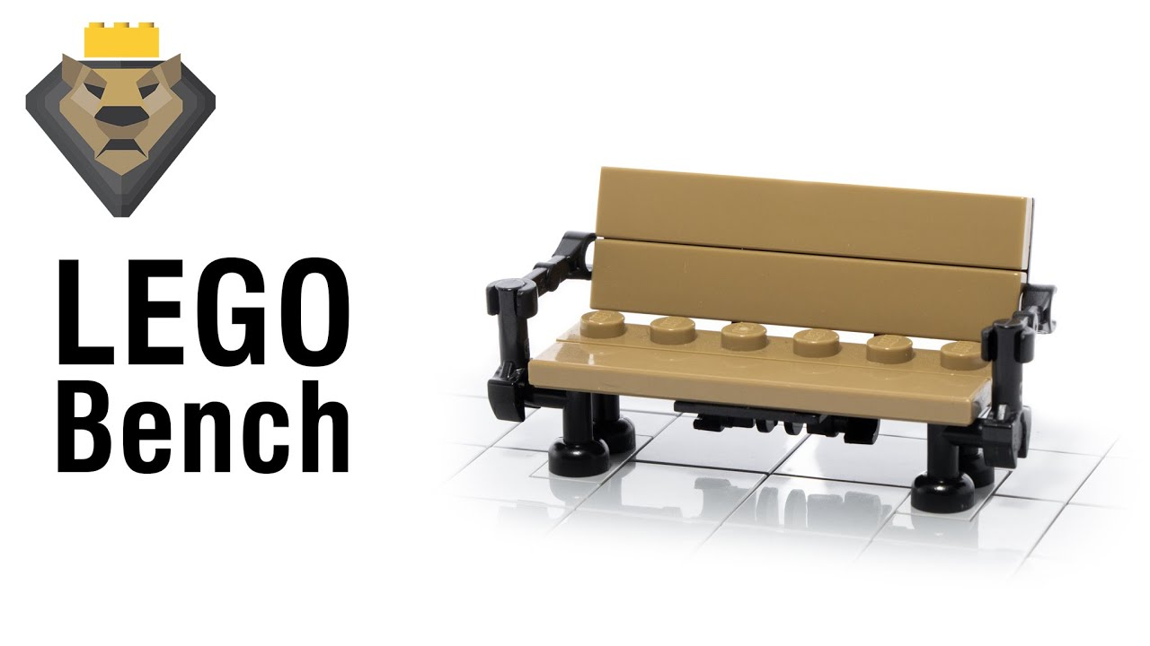 LEGO Bench MOC & Tutorial Perfect For A City!