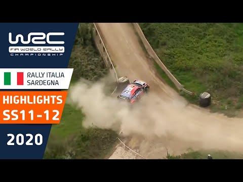 WRC ラリー・イタリア・サルディニア SS11-12のハイライト動画
