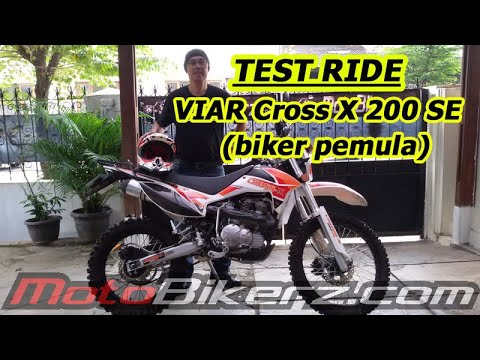 Test Ride VIAR Cross X 200 SE di Limo Cinere