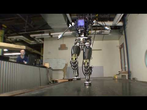 Walking Humanoid Robots Petman Atlas + Running Cheetah DARPA