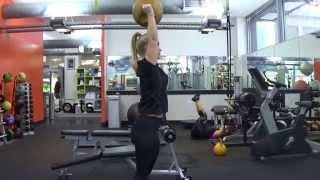 Medicine Ball Shoulder Press