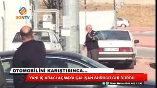 Otomobilini karıştırınca... Görüntüler Konya'dan