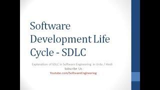 sdlc in urdu - Software Development Life Cycle