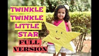Twinkle twinkle little star Nursery RhymeIFull Version |Lullaby|poem| kids learning videos preschool