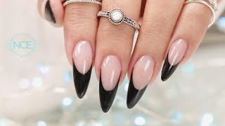 Pro Tips To Create A Crisp Smile Line - Black French Acrylic Detailed Tutorial