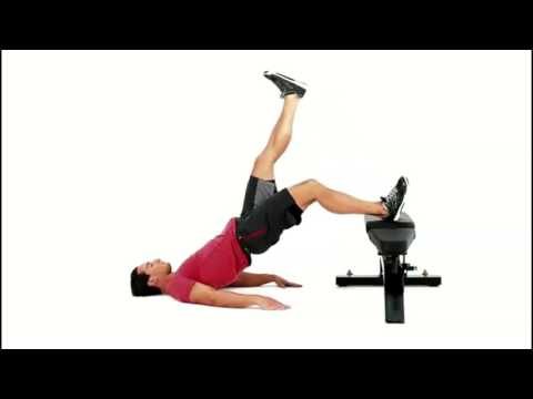 Single-Leg Hip Raise with Foot on Bench