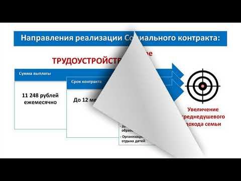 Адресная государственная помощь на основании Социального контракта (видео)