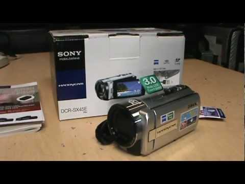 Sony DCR-SX45/65/85 Handycam Unboxing & Review Part 1