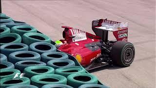 Felipe Massa's life-threatening crash | Hungary 2009