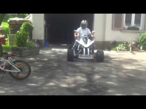 Jinling Quad 250 ccm in weiß kleine Ausfahrt