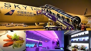 China Southern Business Class 777-300ER Guangzhou to New York JFK