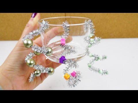Coolen Weihnachtsbaumschmuck ganz einfach selber machen   Silber & Perlen Deko   Kids Idee im Advent