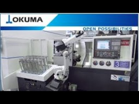 Okuma GENOS L3000-e - Automation with RoboJob TURN-ASSIST 200