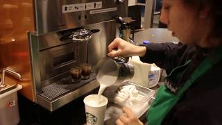 how to make an iced soy caramel macchiato