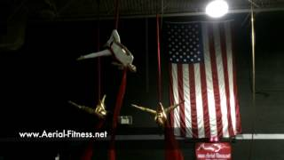 3rd Annual Aerial Fitness Blood Drive & Show with United Blood Services - Sierra Rosten, John Sa
