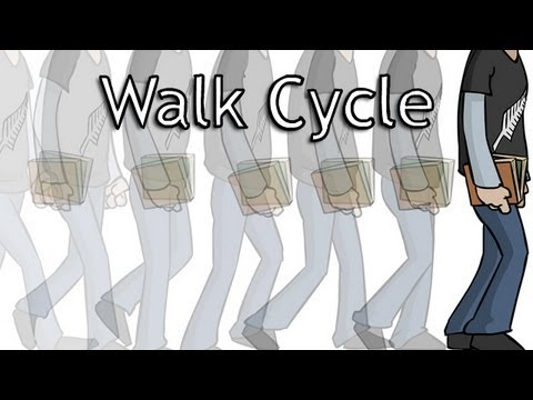 2d walk cycle animation tutorial by jazza