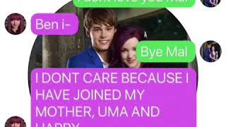 Ben tries to prank Mal! Mal leaves Uma and the others! (TextingStory)
