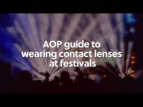 Contact lenses at festivals