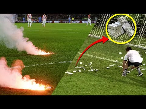 Most Dangerous & Most Stupid Things Thrown In Football Field • Full HD