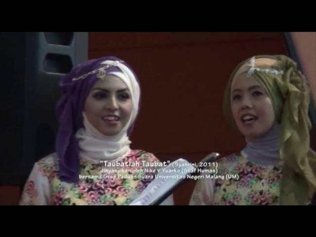 """Taubatlah Taubat"" dinyanyikan oleh Nike V. Yuarko bersama Grup Paduan Suara UM"